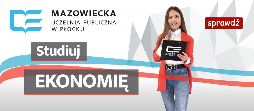 Banner promujący kierunek ekonomia