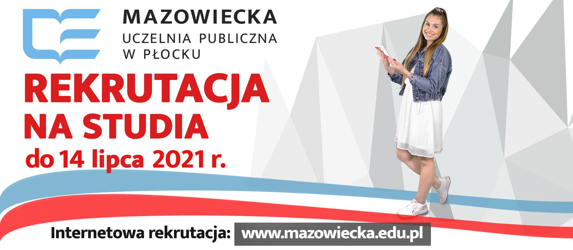 Banner informujący o terminie zakończenia rekrutacji na studia.
