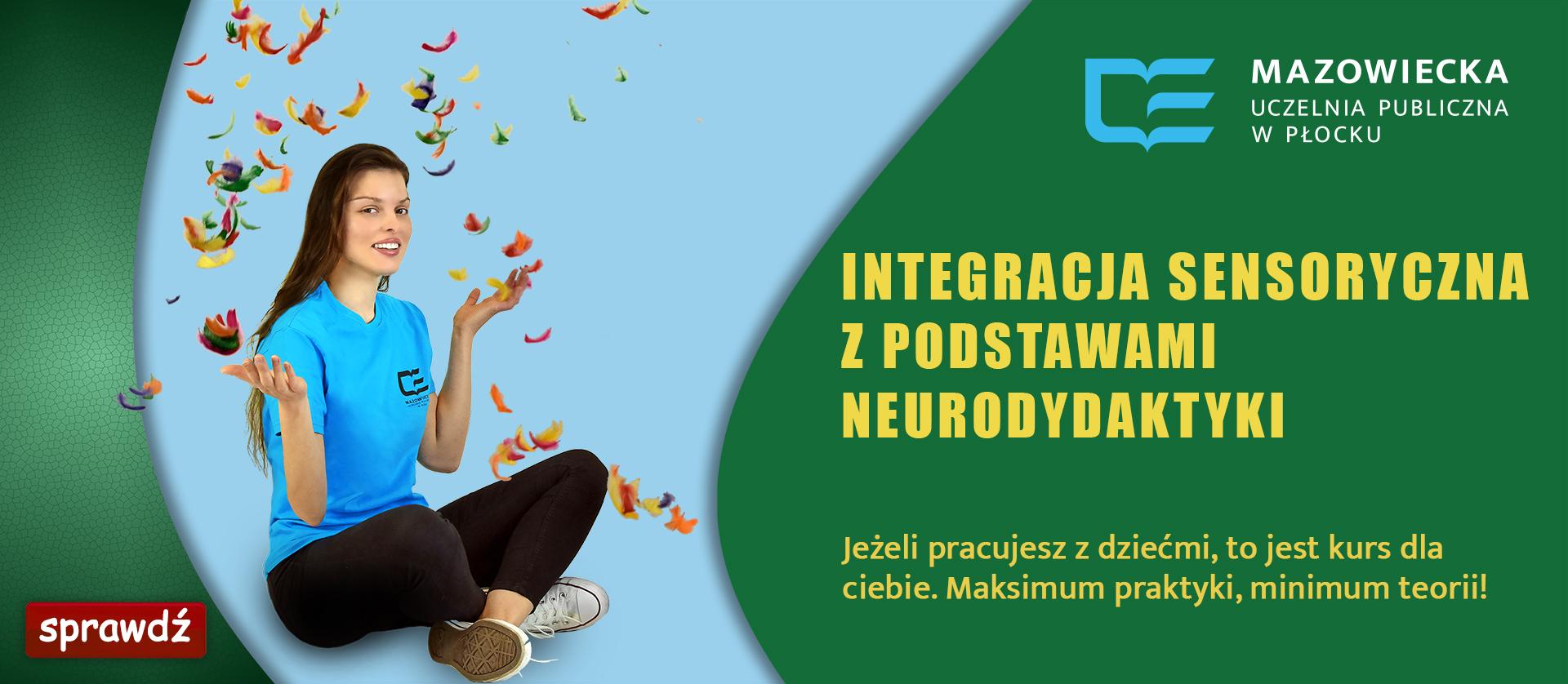 banner promujący studia podyplomowe integracja sensotyczna