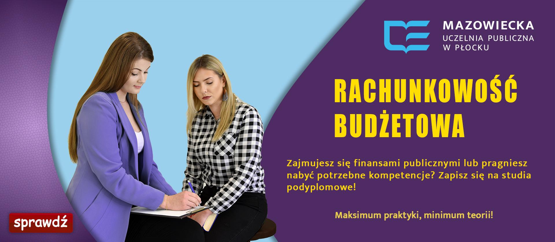 Banner promujący studia rachunkowość budżetową